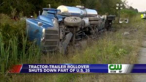 chemical freight claim tanker rollover